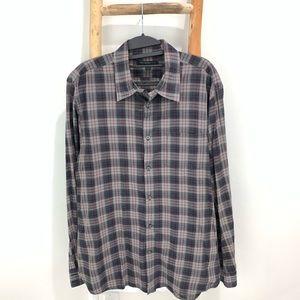 John Varvatos Plaid Button Down Shirt